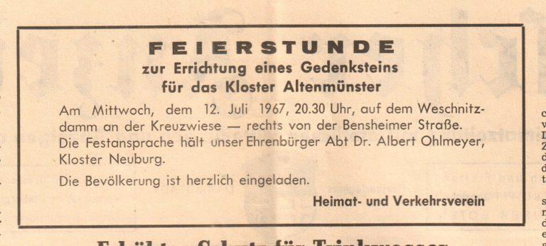 ab 1967 - Kloster Altenmünster