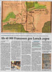 23.02.2018 - Als 60 000 Franzosen gen Lorsch zogen